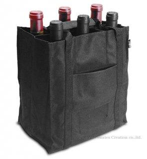 プルテックス  ワインバッグ4本用  ブラック TEX624BK
