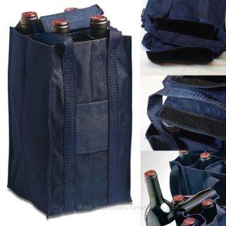 プルテックス  ワインバッグ4本用  ダークブルー TEX724DB