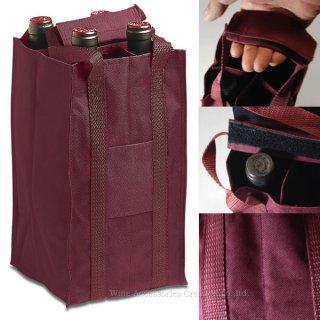 プルテックス  ワインバッグ4本用  バーガンディレッド  TEX724RE