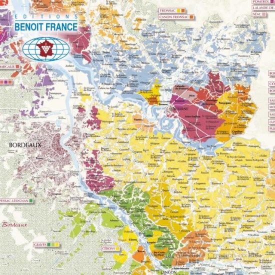 フランス製ワインマップ[ブルゴーニュ] UV106MP