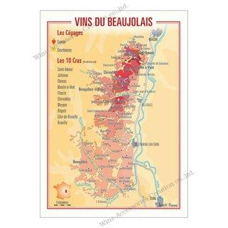 フランス製ワイン ポストカード[ボジョレー]10枚セット  UV206PC