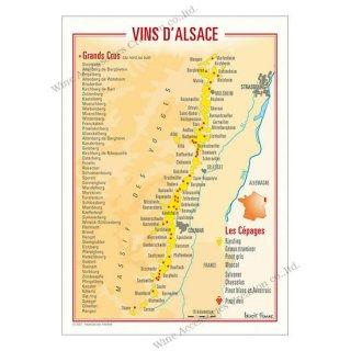 フランス製ワイン ポストカード[アルザス]10枚セット  UV207PC
