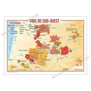 フランス製ワイン ポストカード[スッド・ウエスト]10枚セット  UV210PC