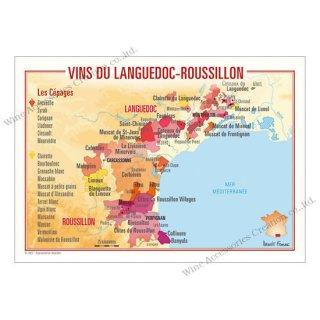 フランス製ワイン ポストカード[ラングドック・ルーション]10枚セット  UV213PC
