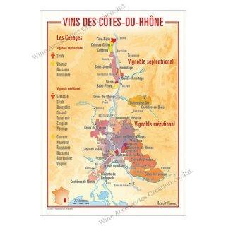 フランス製ワイン ポストカード[コート・デュ・ローヌ]10枚セット  UV215PC