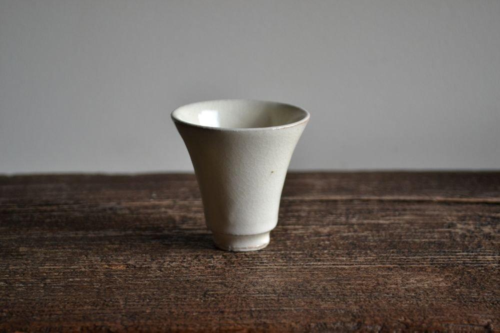 荒賀文成 粉引 中国茶汲み出し茶碗-2