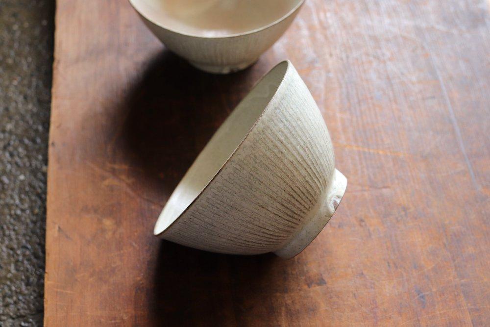 黒木泰等 粉引 飯茶碗