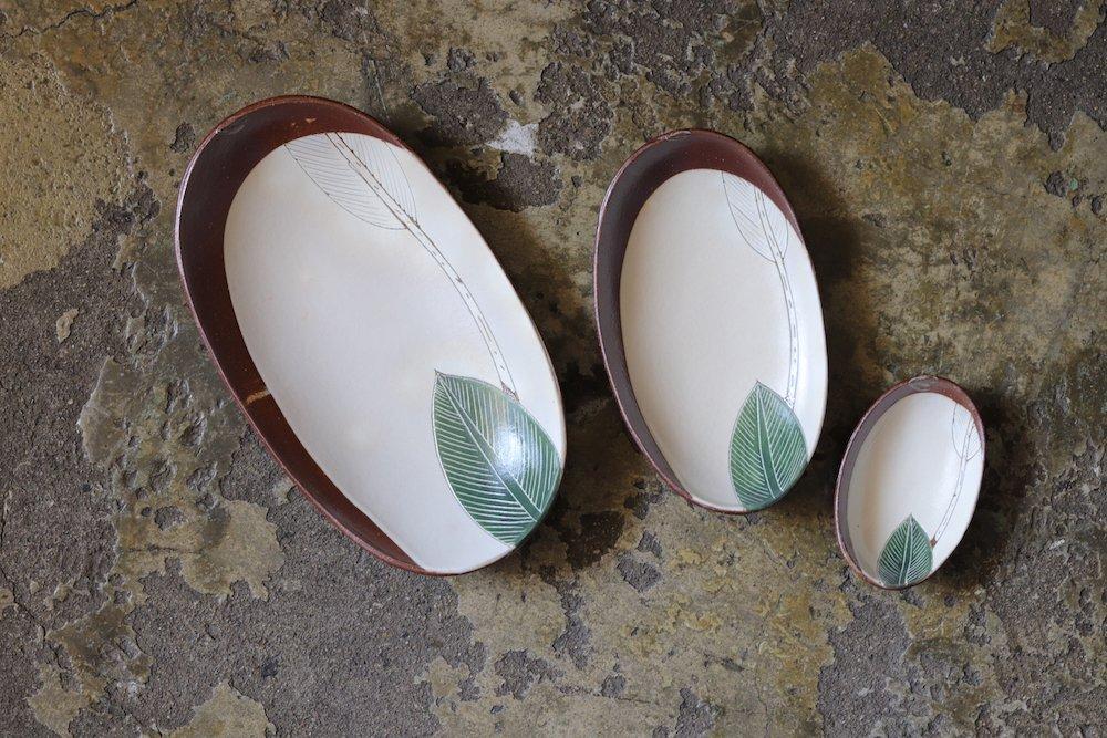 大谷桃子 バナナの葉 ボート皿(L)