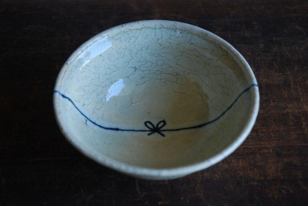 杉本太郎 煮物鉢(黄リボン)