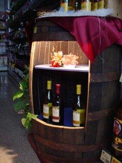ウイスキー樽ディスプレイ