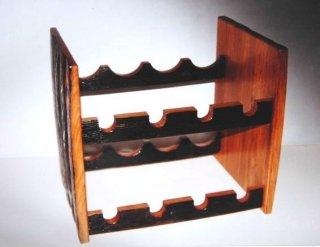 ウイスキー樽で作った  ワインラック