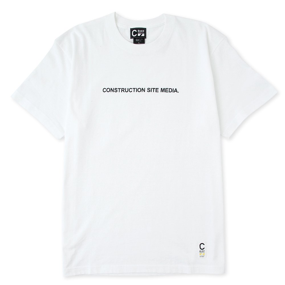 ONSTRUCTION SITE MEDIA Tシャツ(ホワイト)