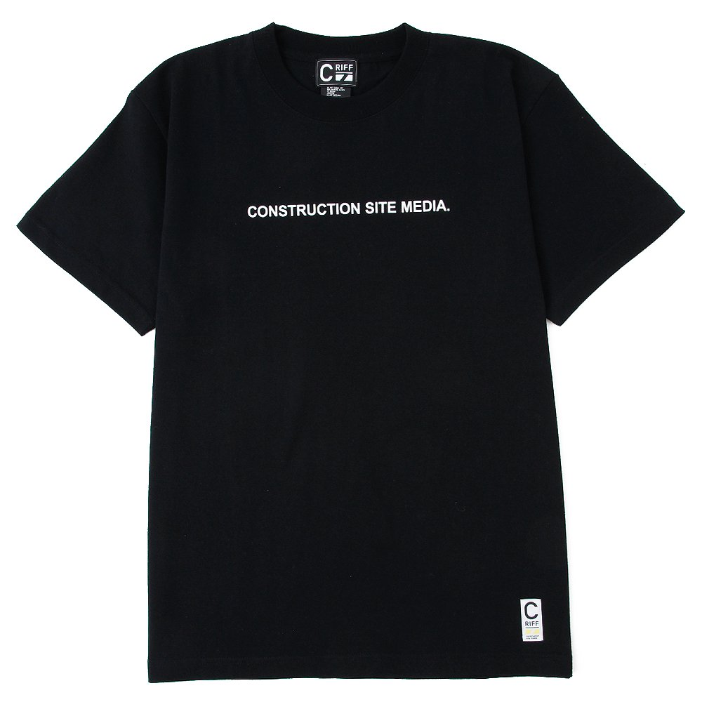 ONSTRUCTION SITE MEDIA Tシャツ(ブラック)