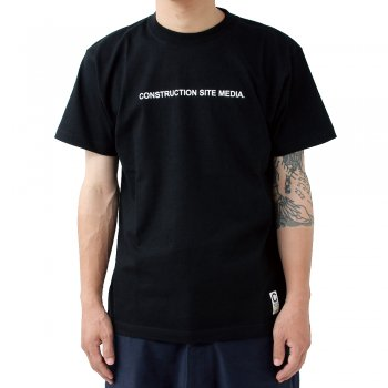 CONSTRUCTION SITE MEDIA Tee(ブラック)