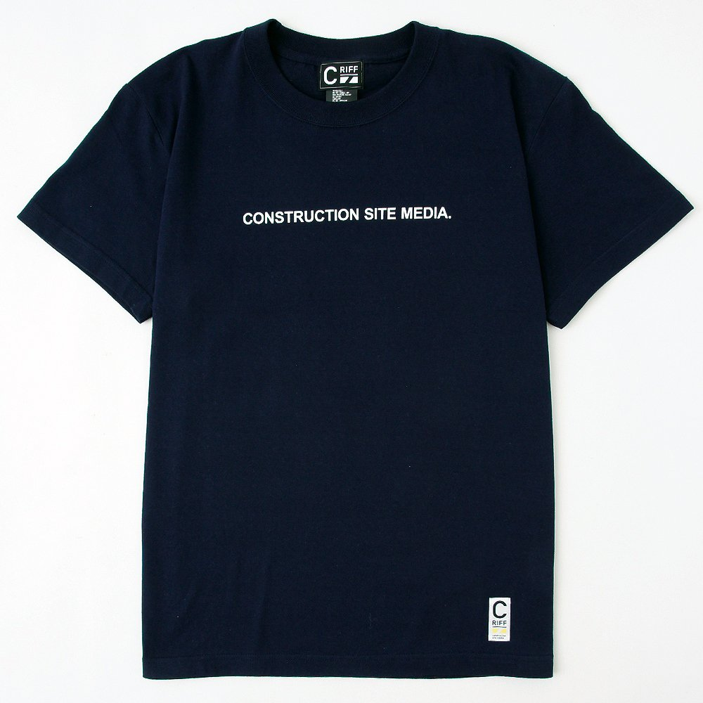 ONSTRUCTION SITE MEDIA Tシャツ(ネイビー)