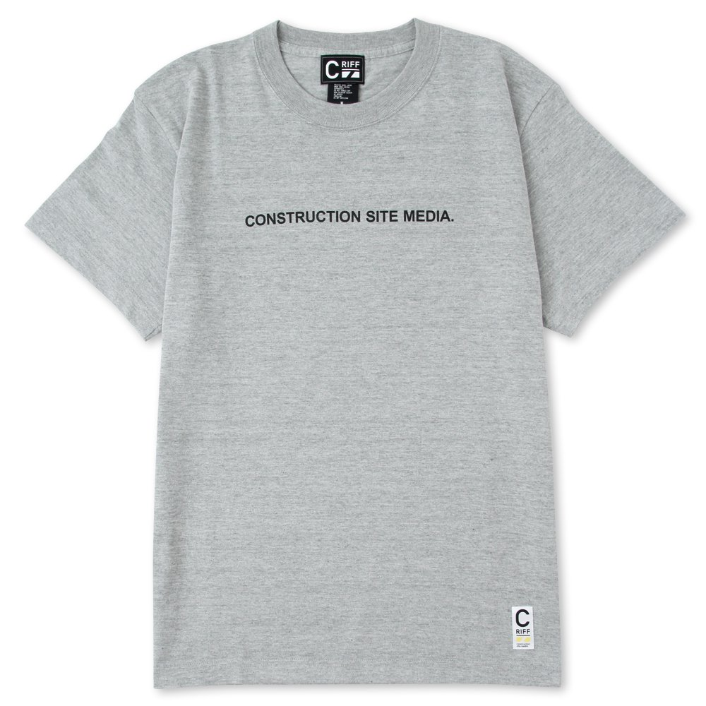 ONSTRUCTION SITE MEDIA Tシャツ(杢グレー)