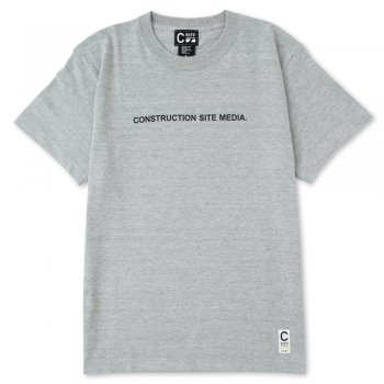 CONSTRUCTION SITE MEDIA Tee(杢グレー)