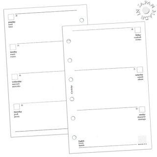 Cookday システム手帳 リフィル 見開き1週間/金土日ワイド ミニ6穴