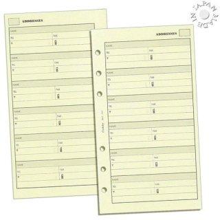 Cookday システム手帳 リフィル アドレス バイブル6穴