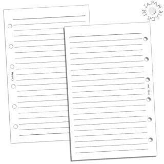 Cookday システム手帳 リフィル ケイ線/ホワイト ミニ6穴
