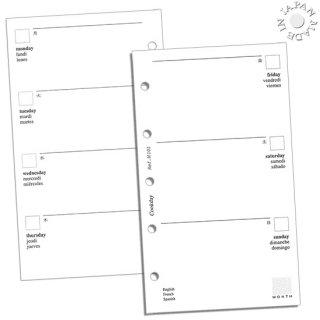 Cookday システム手帳 リフィル 見開き1週間/金土日ワイド ミニ5サイズ