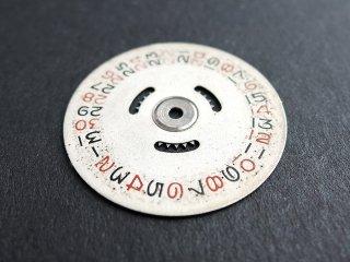 ロレックス純正 SWISS Ref.6494 デイトディスク【赤 黒 数字】1950年代後半 稀少