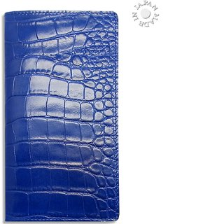 Cookday 手帳カバー 本革クロコ型押し/ブルー