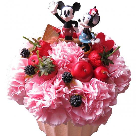 ディズニー フラワーギフト ミッキー ミニー  フラワーケーキ 可愛いケーキのフラワーアレンジメン…