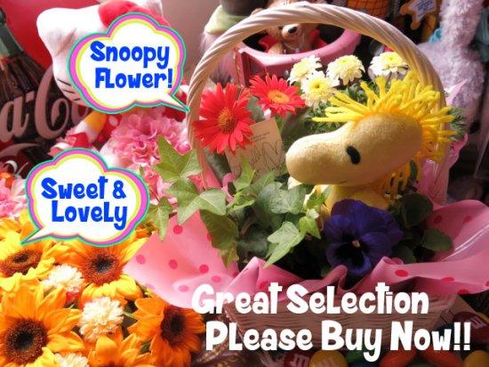 ウッドストック入り 花 鉢植え 誕生日プレゼント 記念日の贈り物におすすめのフラワーギフト プレゼント先へのお届け 配送日指定も可能…