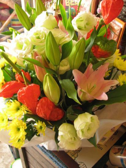 初盆 盆花 法月 お供えフラワーアレンジメント