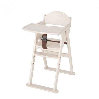 カトージ 木製ハイチェア セナ ステップ切り替え ホワイト