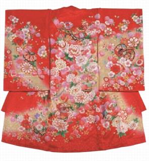 女児衣装 特選6 JM23 牡丹と鈴