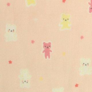 ダブルガーゼ | ミニミニベア   ピンク  1m ルシアン