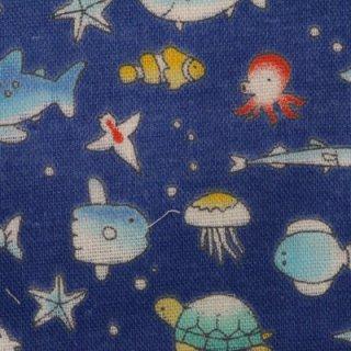 ダブルガーゼ |うみのいきもの 1m  深海