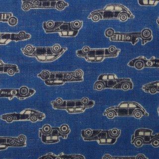ダブルガーゼ | レトロカー  ブルー  1m   IBUKI