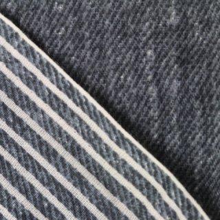 ダブルガーゼ | デニム風 ブラック  リバーシブル  1m コットンこばやし