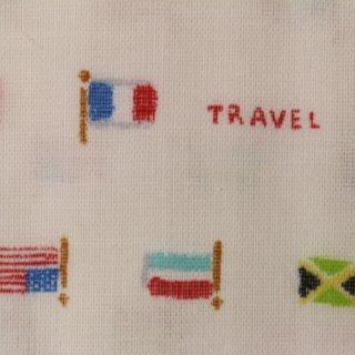 ダブルガーゼ |国旗  1m  ホワイト  コスモテキスタル