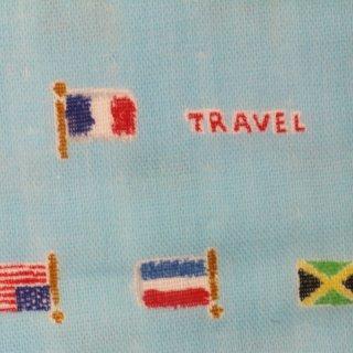 ダブルガーゼ |国旗  1m  ブルー  コスモテキスタル