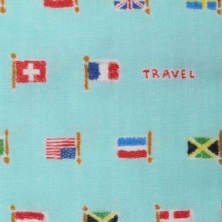 ダブルガーゼ |国旗  1m  ミント  コスモテキスタル