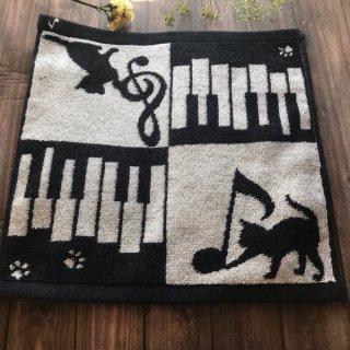 今治タオル♪タオルハンカチ♪ネコ&ピアノ