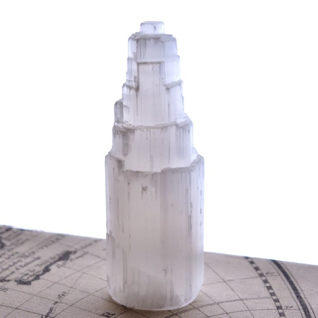 セレナイト・タワー 月の女神 モロッコ産 431g/ 原石・ヒーリング