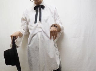 50s- White Cotton Tuxedo Shirt
