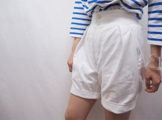 <img class='new_mark_img1' src='//img.shop-pro.jp/img/new/icons23.gif' style='border:none;display:inline;margin:0px;padding:0px;width:auto;' />80s- Russian Military Reproduct White Cotton Shorts
