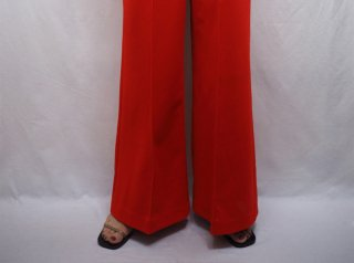 70s Red Wide Leg Baggy Pants
