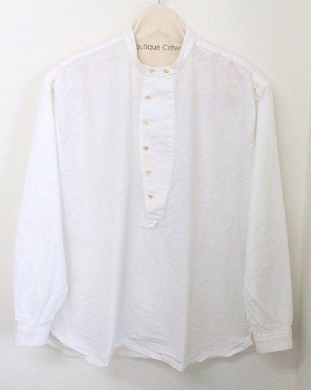 GYPSY&SONS (ジプシー&サンズ) / French marine shirts  / GS1629913 / ノーカラーシャツ / 白シャツ / 大人アメカジ / メン…