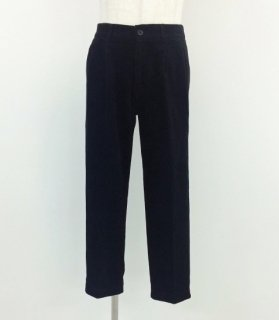 KIFFE  (キッフェ) / SEMI LOOSE PANTS (BLACK)  / KF72DC309 / コーデュロイ / タックパンツ / ミリタリー / メンズ