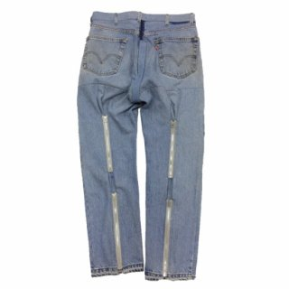 <img class='new_mark_img1' src='https://img.shop-pro.jp/img/new/icons24.gif' style='border:none;display:inline;margin:0px;padding:0px;width:auto;' />ink (インク) / DENIM BONDAGE PANTS / ブルー / L / ボンテージパンツ / リメイク / USED / メンズ