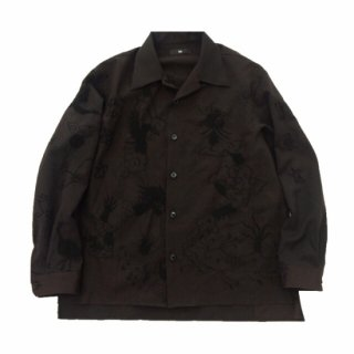 <img class='new_mark_img1' src='https://img.shop-pro.jp/img/new/icons15.gif' style='border:none;display:inline;margin:0px;padding:0px;width:auto;' />ink (インク) / OPEN COLLAR SHIRT / SHADE / 開襟シャツ / チャイナガウン / リメイク / USED / メンズ