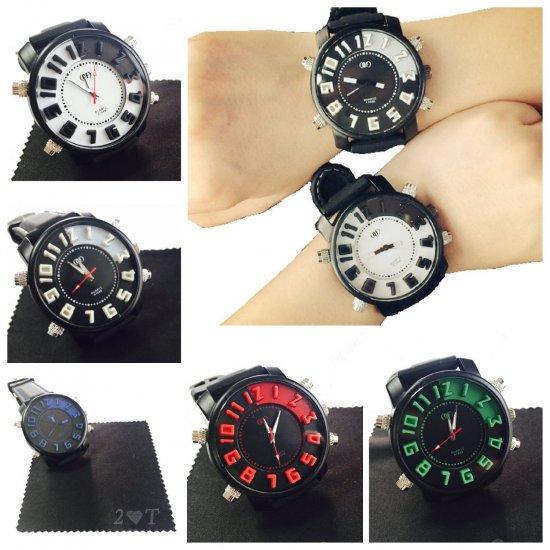 best service 5b423 73ffa 腕時計 おしゃれ おもしろ カラフル でか 盤 メンズ レディース ビッグ 文字盤 ウォッチ ユニセックス - shop2t