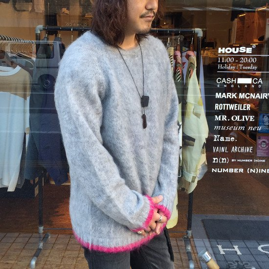 Name.  ネーム / ニット  MOHAIR CREW NECK SWEATER 【GRAY】
